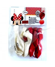 GLOBOS MINNIE FASHION 8 UNIDADES