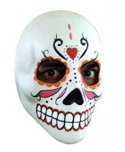 CARETA DELUXE CALAVERA DECORADA CORAZON