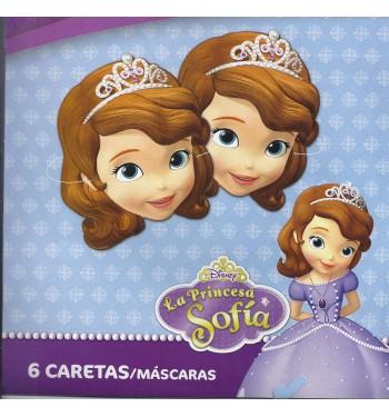 CARETAS PRINCESA SOFIA 6 UNIDADES