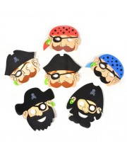 CARETAS FOAM DE PIRATAS 6 UNIDADES