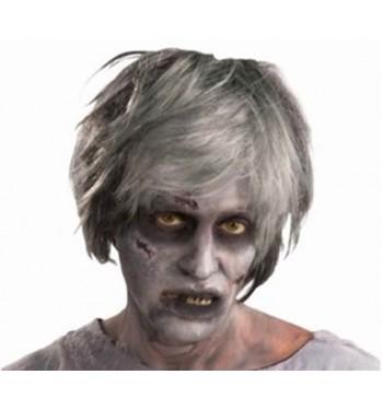 Peluca Zombie Hombre Mechas Con Flequillo Comprar Online En - Maquillaje-zombie-hombre