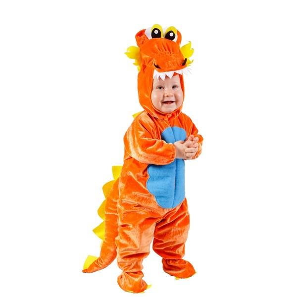 Disfraz de dragon naranja comprar online en for Caretas disfraces