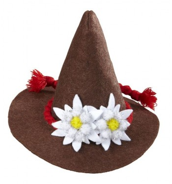 SOMBRERO TIROLES MINI MARRON
