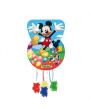 PIÑATA SILUETA MICKEY CLUB HOUSE GLOBOS