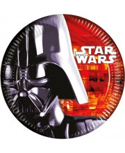 PLATOS STAR WARS DARTH VADER 23 CMS 8 UNIDADES