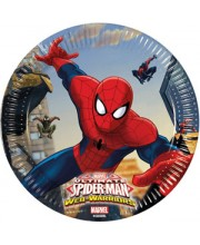PLATOS SPIDERMAN ULTIMATE 20 CMS. 8 UNIDADES