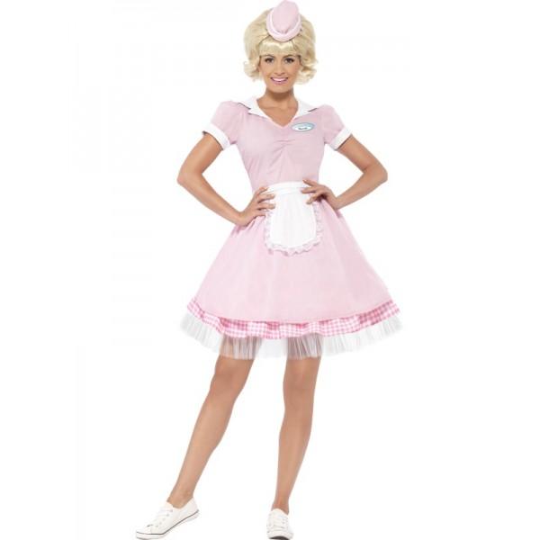 Disfraz de camarera dinner a os 50 comprar online en - Zapatos camarera antideslizantes ...