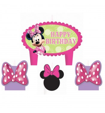VELAS MINNIE ROSA SET 4 VELAS