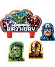 VELAS AVENGERS 4 UNIDADES HAPPY BIRTHDAY