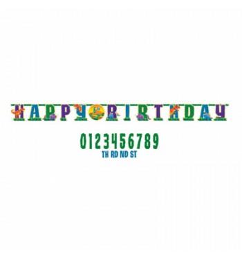 GUIRNALDA PERSONALIZABLE DINOSAURIOS HAPPY BIRTHDAY
