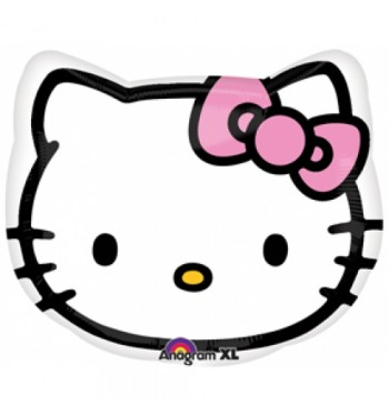 GLOBO DE HELIO CABEZA HELLO KITTY