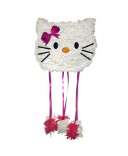 PIÑATA MEJICANA MEDIANA HELLO KITTY CABEZA