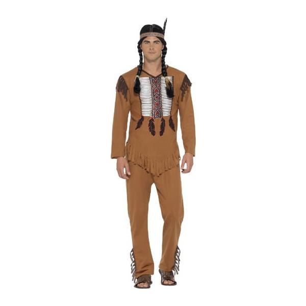 Disfraz De Indio Americano Guerrero Comprar Online En - Disfraz-india-americana
