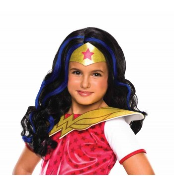 PELUCA WONDER WOMAN INFANTIL DC SUPER HERO GIRLS