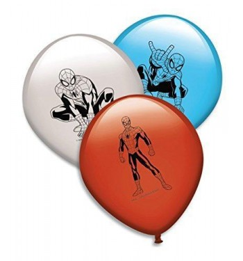 GLOBOS SPIDERMAN 8 UNIDADES