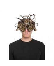 ANTIFAZ EFECTO CASCO STEAMPUNK CON GAFAS