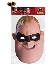 CARETA DE LOS INCREIBLES MR.INCREIBLE CARTON PLASTIFICADO