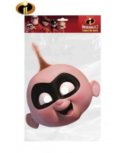 CARETA DE LOS INCREIBLES JACK JACK CARTON PLASTIFICADO