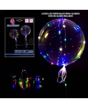 GLOBO BURBUJA TRANSPARENTE CON LUCES LED COLORES
