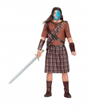 DISFRAZ DE ESCOCES BRAVEHEART MARRON