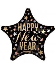 GLOBO DE HELIO ESTRELLA NEW YEAR