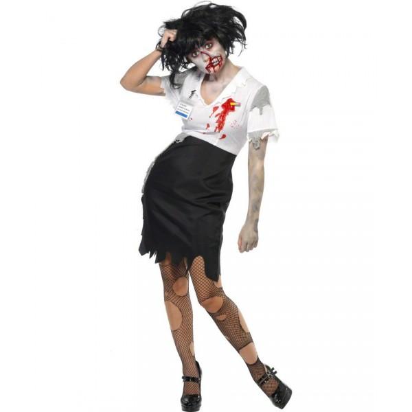 disfraz de secretaria zombie comprar online en. Black Bedroom Furniture Sets. Home Design Ideas