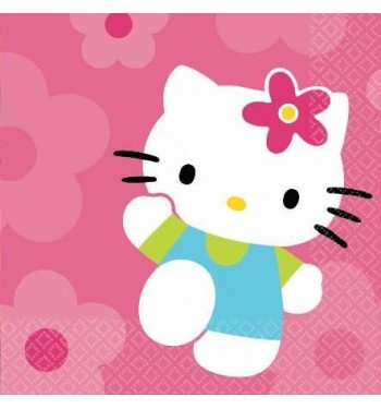 SERVILLETAS HELLO KITTY 16UNIDADES