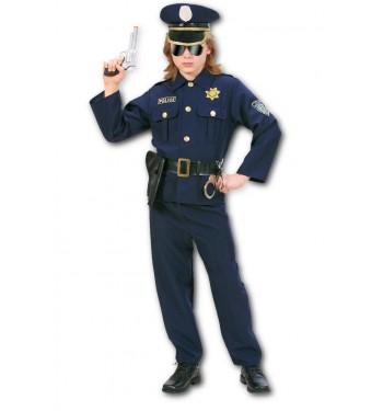 DISFRAZ DE POLICIA AZUL