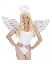 SET ANGEL LENTEJUELAS ALAS Y HALO