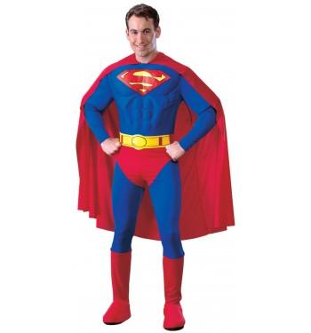 DISFRAZ DE SUPERMAN PECHO MUSCULADO