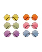 GAFAS HIPPIE C/CRISTAL COLOR