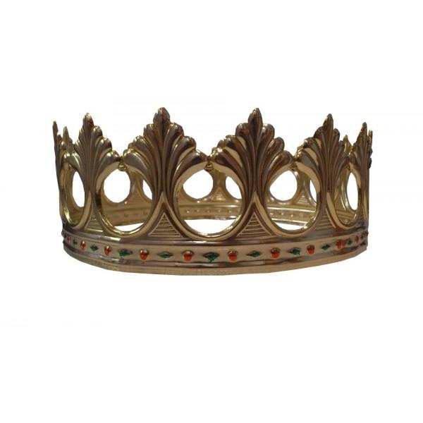 corona metal decorada para rey mago