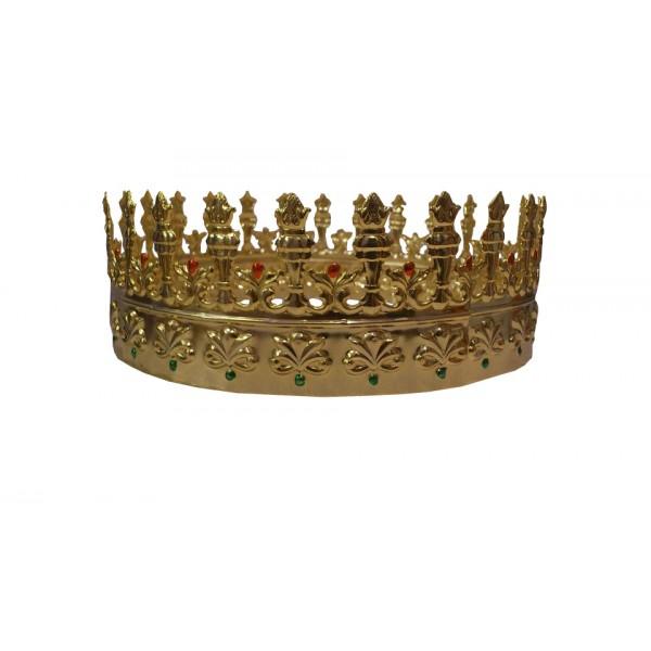 Corona Metal Decorada Para Rey Medieval