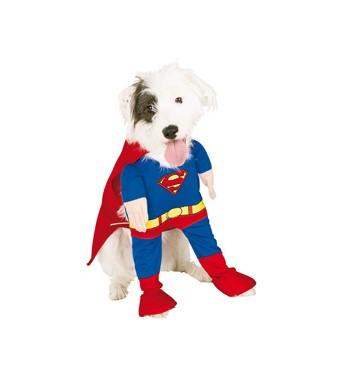 DISFRAZ MASCOTA SUPERMAN