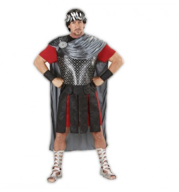 DISFRAZ DE EMPERADOR ROMANO PLATEADO