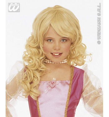 Peluca rubia glamour para niñas