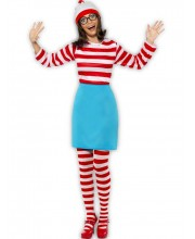 DISFRAZ DE WALLY WHERE IS WALLY CHICA