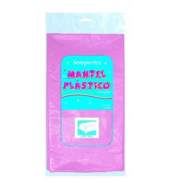 Mantel rosa pastel de plastico comprar online en - Mantel plastico ...