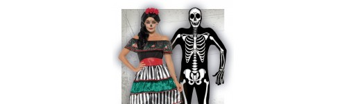 Disfraces de Catrina y Esqueletos