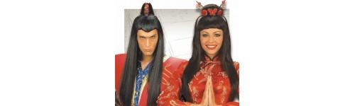 Pelucas Geisha Y Samurai