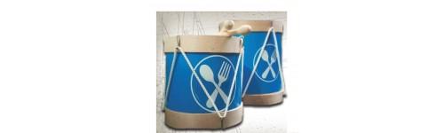 Tambores de Tamborrada, Delantales y Gorros de Cocinero