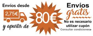A partir de 80€ envíos gratis